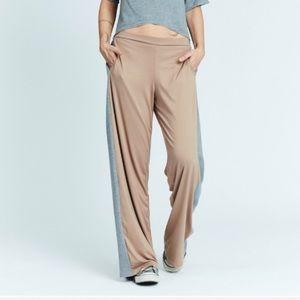 KAREN ZAMBOS Luxury Wide Leg Track Pants Joggers
